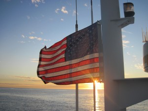 Scattering Veterans ashes at sea in San Diego